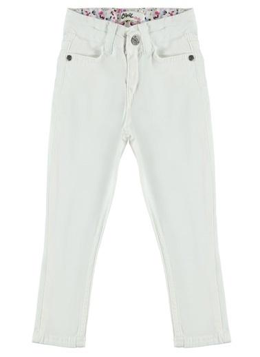 Civil Girls Kız Çocuk Pantolon  Beyaz